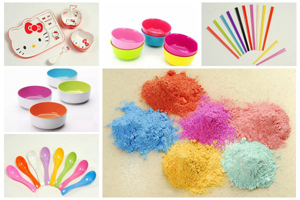 Melamine Molding Compound for colorful tableware